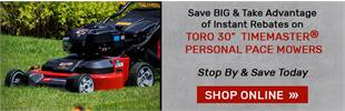 Shop Toro Timemaster personal pace mowers! Save today at Dickens!