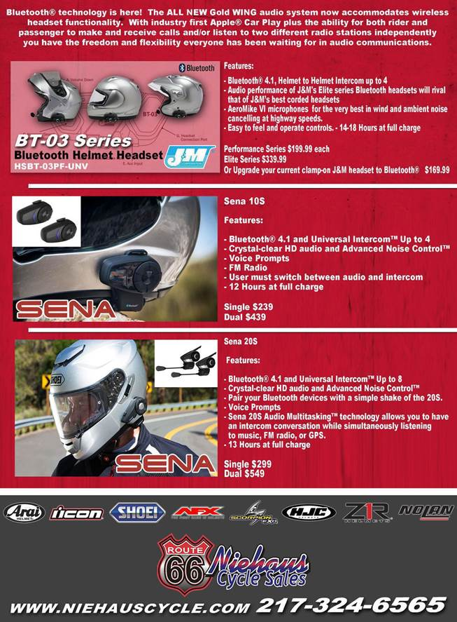 GOLD WING ACCESSORIES - NEW DEC 2017 - BACK COVER