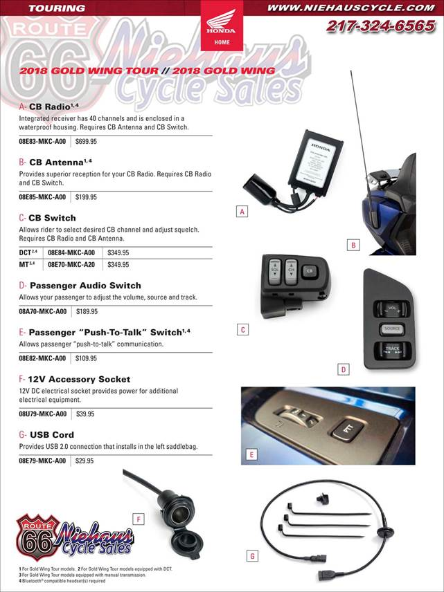 GOLD WING ACCESSORIES - NEW DEC 2017 - PAGE 1