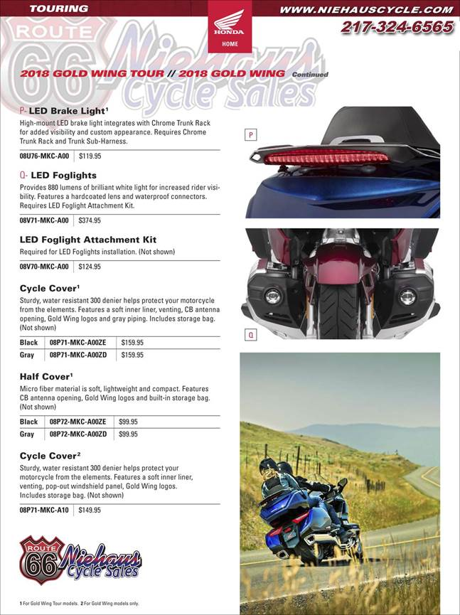 GOLD WING ACCESSORIES - NEW DEC 2017 - PAGE 2