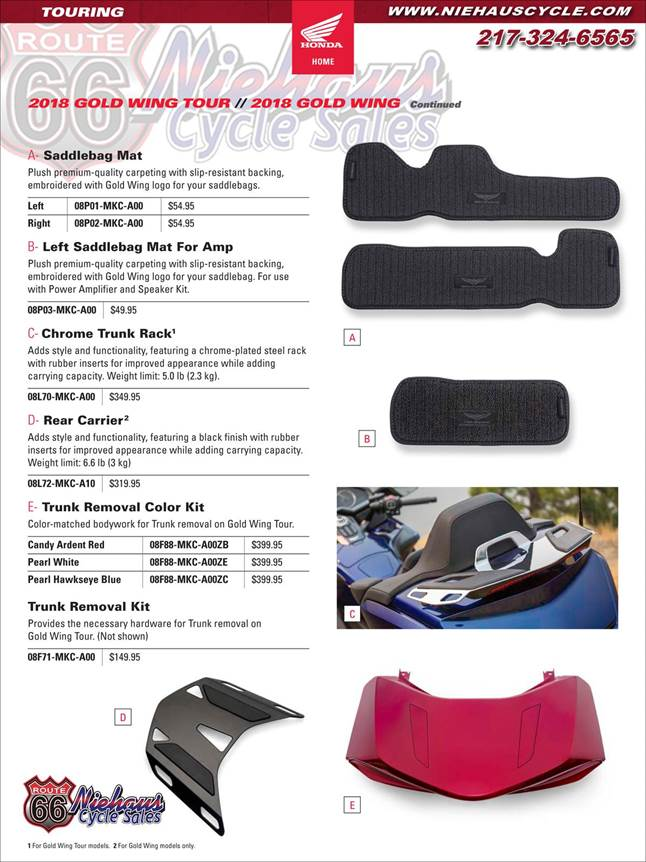 GOLD WING ACCESSORIES - NEW DEC 2017 - PAGE 7