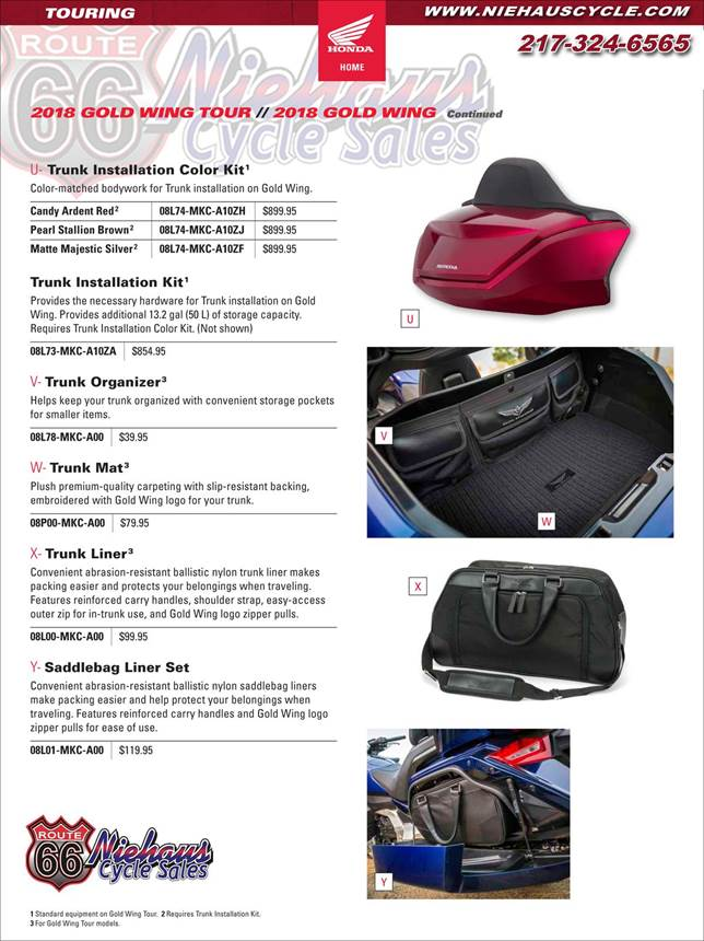 GOLD WING ACCESSORIES - NEW DEC 2017 - PAGE 8