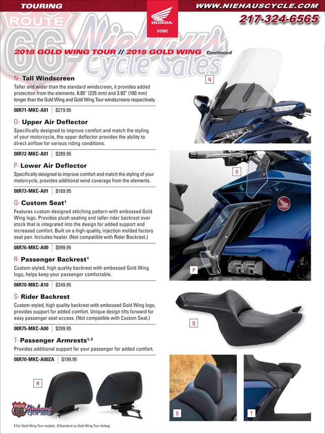 GOLD WING ACCESSORIES - NEW DEC 2017 - PAGE 9