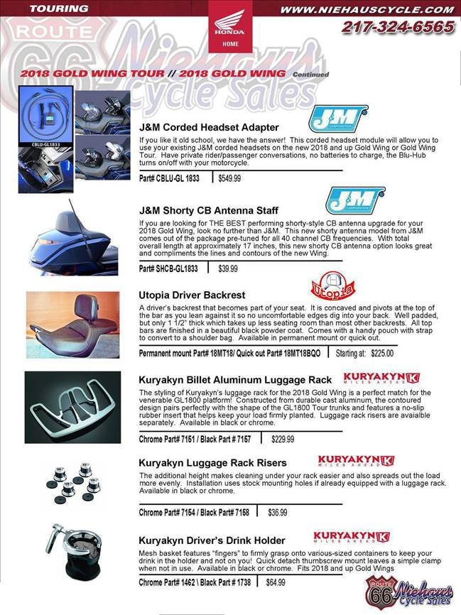GOLD WING ACCESSORIES - NEW DEC 2017 - cb page jm