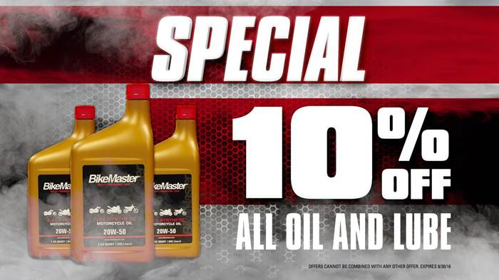 10% Off All Oil and Lube