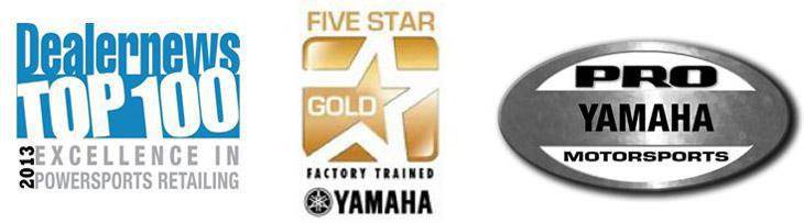 Dealernews Top 100 Dealer, YamahaFive Star Gold Factory Trained, and Yamaha Pro Motorsports