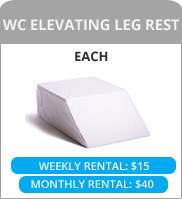 WC elevating leg rest