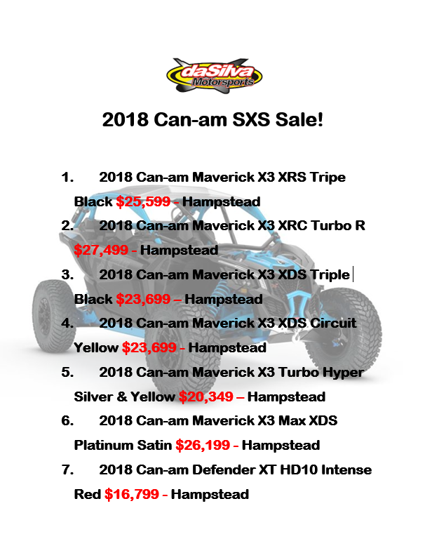 2018 Can-am SxS Sales before 2019