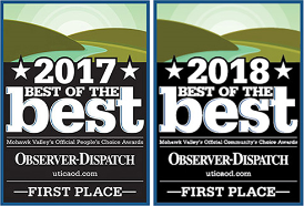 2017 and 2018 best of the best Observer-Dispatch First Place