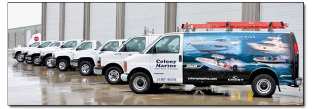 Colony Marine parts and service departments