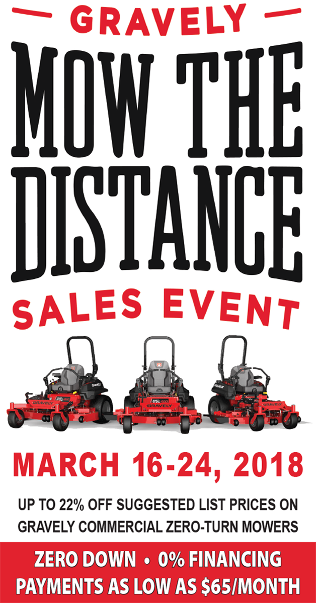 Gravely-Mow The Distance- Facebook Non-Boost ad