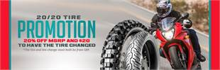 Get 20% off MSRP for the tire and pay just $20 to have the tire changed! Contact us for details.