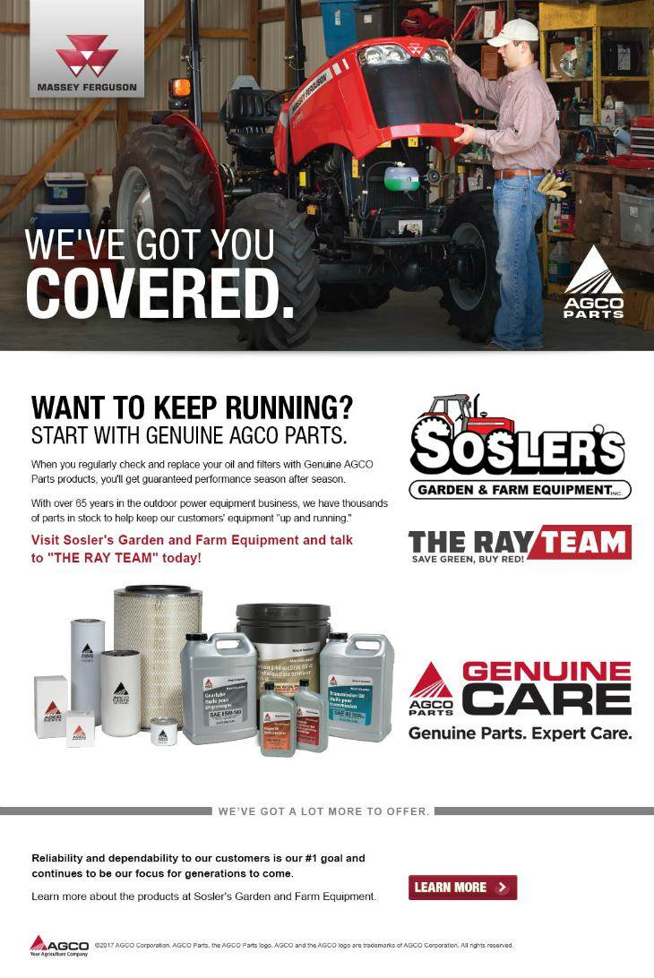 AGCO Oils and Filters - We've got you covered! Tons of parts in stock and ready for you today!
