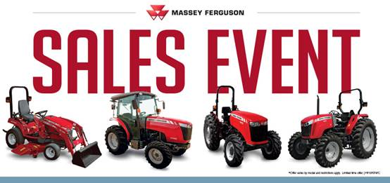 Massey Ferguson Sales Event