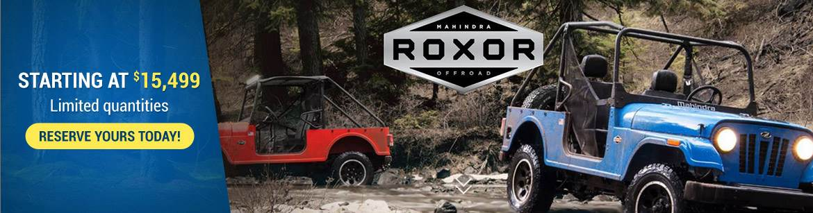 ROXOR. Starting at $15,499. Limited quantities. RESERVE YOURS TODAY!