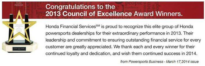 2013 Council of Excellence Award Winner