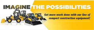 Get more work done with our line of compact construction equipment!