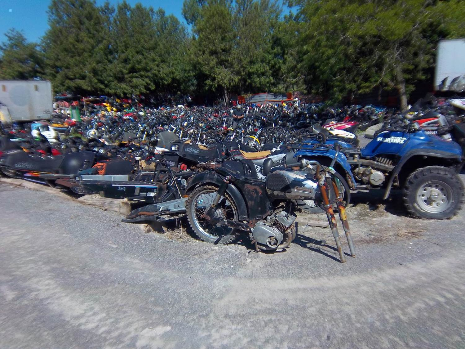 Peterborough Cycle Salvage has the Biggest Motorcycle, ATV and Snowmobile Wrecking Yard in Ontario.