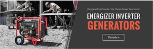 Energizer inverter generators are designed to provide the clean power you need.