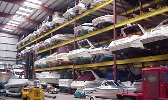 Boat storage on Chautauqua Lake in Ashville, NY