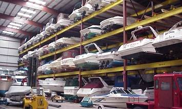 Boat storage on Lake Ontario in Rochester, NY