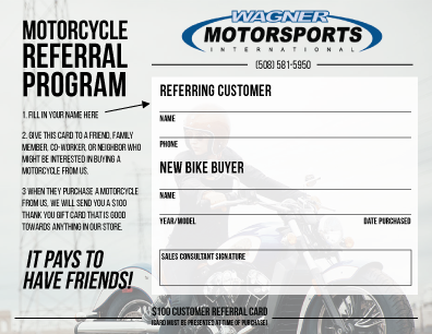 Motorsports-Refferal-Program