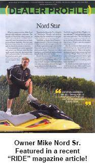 Owner Mike Nord, Sr. featured in a recent RIDE magazine article