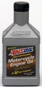 Older Amsoil Synthetic Motorcycle Oil Bottle