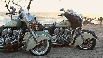 Indian motorcycle-two-tone Paint