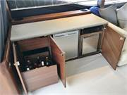 Entertainment Console with Storage, Reefer, Icemak