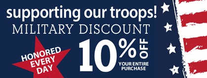 Military Discount - Thank You For Your Service!