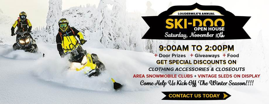 Annual Ski-Doo Open House Graphic
