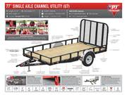 Spec Sheet Single Axle Utility Trailer