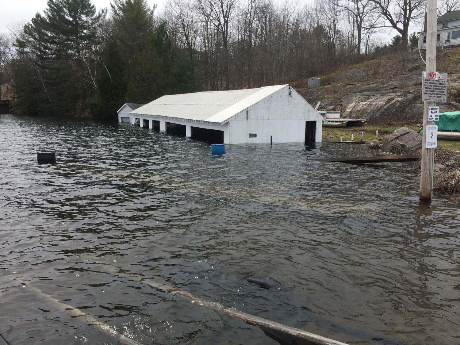 Number 1 boat house - high water