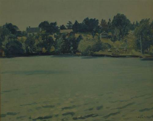 Painting of Campbell's Landing