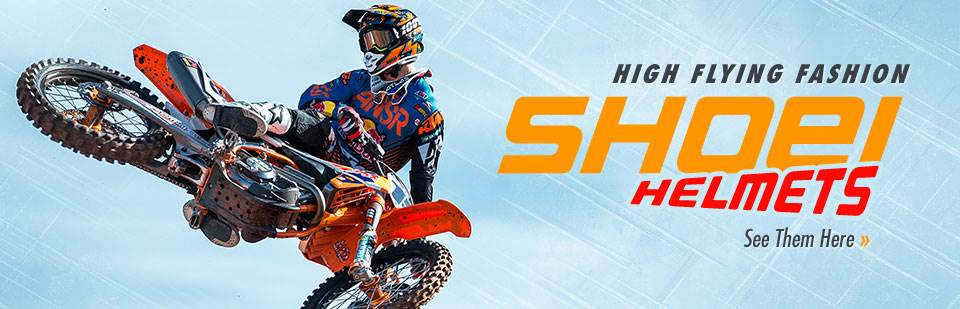 Shoei Helmets: Click here to shop online.