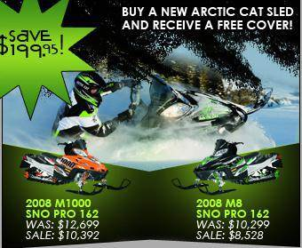 Buy a new Arctic Cat sled and receive a free cover! Save $199.95!