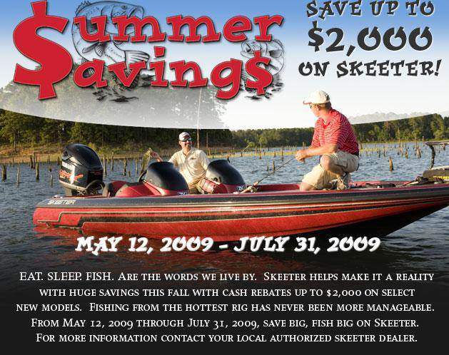 Summer Savings. Save up to $2,000 on Skeeter!