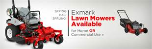 Exmark Lawn Mowers Available: Click here to view the models.