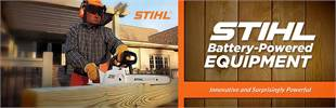 STIHL Battery-Powered Equipment: Click here to view the models.
