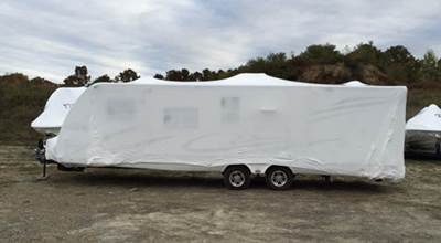 Wrapped Camper