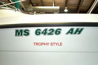 Custom Boat Lettering by The Vinyl Approach