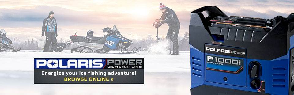 Energize your ice fishing adventure with Polaris Power generators! Click here to browse our selection.