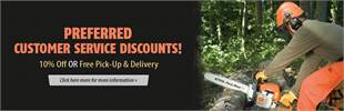 Preferred Customer Service Discounts: Get 10% off or free pick-up and delivery! Click here more for more information.