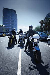 Riding BMW Motorcycles with friends