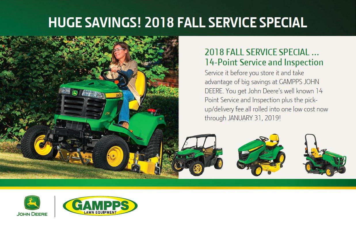 2018 Fall Service Special