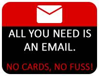 All you need is an email. No Cards, No Fuss!