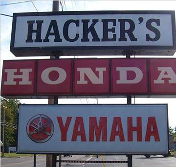 Hackers Yamaha and Honda store