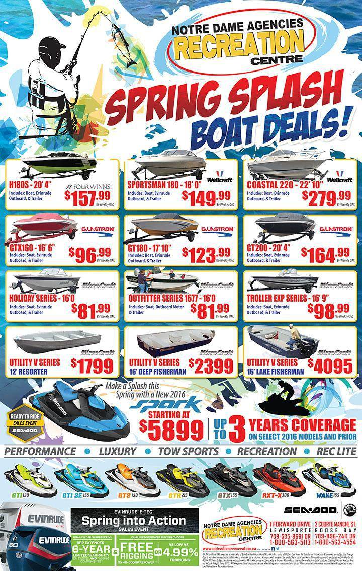 Spring Splash Boat Deals