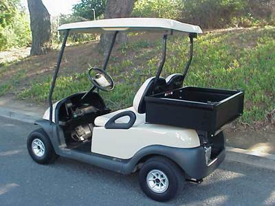 Golf Cart with Utility Box